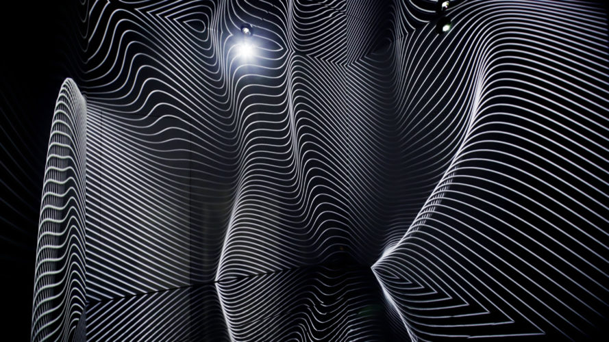 Refik Anadol, Infinity Room, 2015. Immersive environment, approximately 12 x 12 x 12 feet. Photo courtesy of the artist.