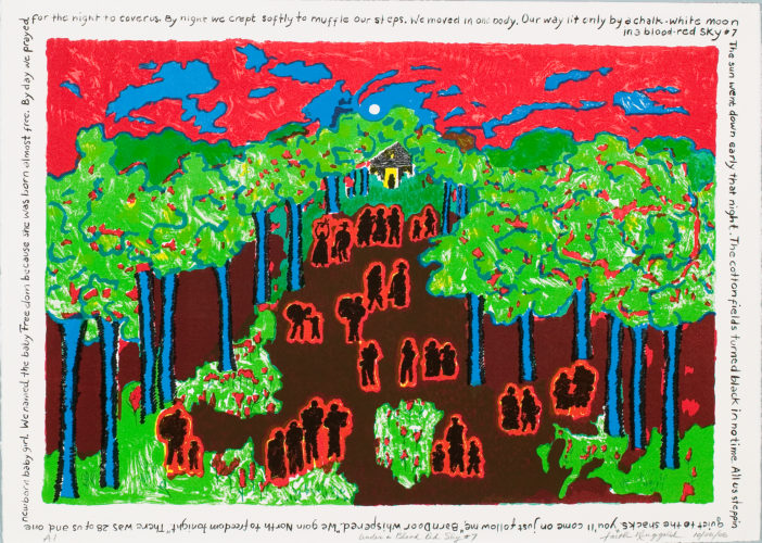 Faith Ringgold, Under a Blood Red Sky #7, 2006. Lithograph, 29 ½ x 41 ½ inches. Collection of Scottsdale Museum of Contemporary Art, Segura Publishing Company Archive, gift of Jeffrey J. Wagner, 2007.009.04. © Faith Ringgold.