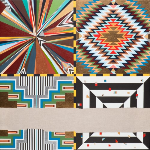 Carrie Marill, Pattern Makers, 2012. Acrylic on linen, 34 × 34 inches. Courtesy of the artist and Lisa Sette Gallery, Scottsdale, AZ. © Carrie Marill