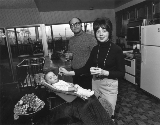 "Bill Owens, We're really happy. Our kids are healthy, we eat good food, and we have a really nice home. From the series ""Suburbia"", 1973. Gelatin-silver print, 7 x 9 inches. Image courtesy of the artist and Robert Koch Gallery. © Bill Owens"