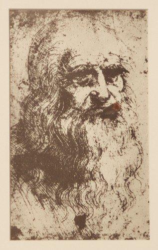 Man Ray, Mona Lisa's Father, 1968, from SMS, Issue 3. Offset lithograph, 10.75 x 6.75 inches. Collection of SMoCA; purchased with funds provided by David and Sara Lieberman. © Man Ray Trust/Artists Rights Society (ARS), NY/ADAGP, Paris 2015. Photo: Dana Buhl. Reproduction, including downloading of Man Ray works is prohibited by copyright laws and international conventions without the express written permission of Artists Rights Society (ARS), New York.