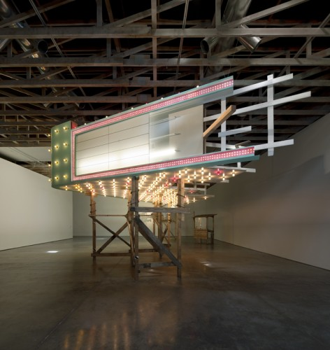Annie Han and Daniel Mihalyo, Lead Pencil Studio, Welcome Fragment (installation view), 2011. Wood, electrical wiring, plastics, polystyrene foam, paint, dimensions variable. Courtesy of the artists. © Lead Pencil Studio. Photo: Bill Timmerman
