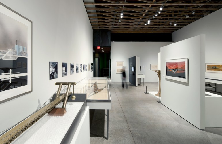 Installation view, Bridges: Spanning the Ideas of Paolo Soleri on view at the Scottsdale Museum of Contemporary Art. Photo: Bill Timmerman